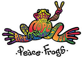 Amazon Com Enjoy It Peace Frogs Hope Peace Frogs Car Sticker Outdoor Rated Vinyl Sticker Decal For Windows Bumpers Laptops Or Crafts Toys Games