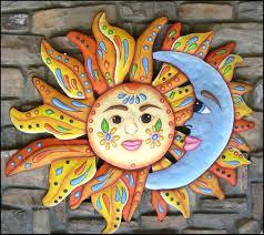 sun moon art garden decor outdoor metal