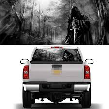 22 X 65 Rear Window Graphic Decal Grim Reaper Black Forest Rear Window Sticker For Truck Suv Jeep Car Stickers Aliexpress
