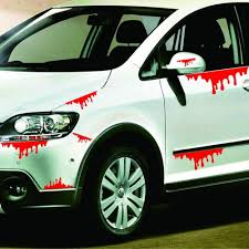 Tamiko Car Styling Car Stickers Happy Halloween Car Wall Home Blood Sticker Mural Decor Decal Removable Terror Td11 Dropship Amazon Com
