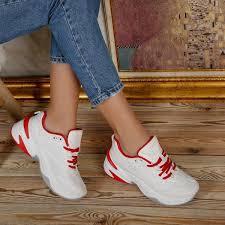 Pantofi sport Adela - White/Red | Boutique Arena Romania