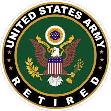 4 Us Army Retired Color Printed Vinyl Decal Stickers For Cars Waterproof Car Windscreen Stickers Rear Window Car Body Decal Bumper Fuel Tank Hood Window Windshield Vinyl Decal Sticker For Cars Suv