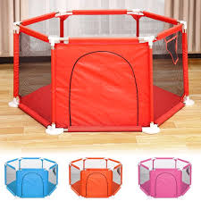 Playpen For Baby Kids 6 Panel Portable Baby Playpen Indoors Or Outdoors Child Playpen Fence Breathable Mesh For Babies Toddler Newborn Infant Walmart Com Walmart Com