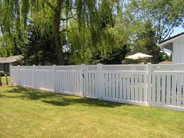 Semi Private Vinyl Fencing Is Durable Beautiful And Great For Adding A Bit Of Privacy Without Blocking Everything Outdoor Patio Diy Patio Table Rustic Patio