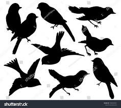 Set Silhouettes Birds Wall Sticker Black Stock Vector Royalty Free 1380599351