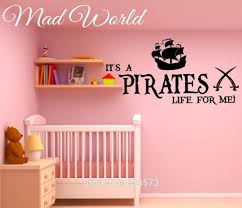 Pirate Wall Stickers Transfer Graphic Decal Decor Art Stencil Boys Room Stickers Home Garden Decor Decals Stickers Vinyl Art