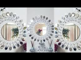 diy metal clip wall mirror decor