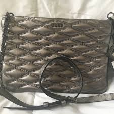 dkny bags quilted leather cross