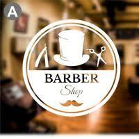 Barber Shop Sign Barbershop Window Sign Hair Salon Window Decal Ebay