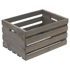 gray wood wooden crates storage