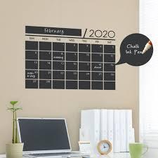 Weekly Chalkboard Calendar Wall Decal