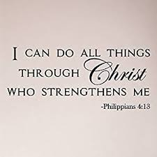 Buy 50 X24 I Can Do All Things Through Christ Who Strengthens Me Philippians 4 13 Wall Decal Sticker Art Mural Home Decor Quote Lettering Christian Verse Bible Scripture Words God In Cheap Price
