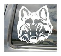Staring Wolf Gray Grey Canis Lupus Car Window Bumper Vinyl Decal Sticker 01299 Ebay