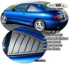 Pontiac Sunfire Simulated Window Louver Decal Kit 1