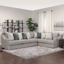norwalk sectional grey fabric