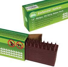 Amazon Com De Bird Defender Spikes Animal Repellent Decoys Outdoor Pest Defender To Keep Off Pigeon Squirrel Woodpecker More Plastic Deterrent Anti Theft Climb Strips 20pk 20 Foot Garden Outdoor