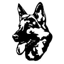 German Shepherd Head Car Decal Canine Extreme