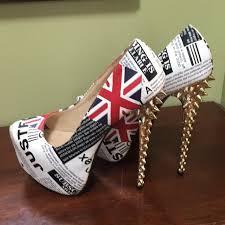 british flag size 7 platform high heels