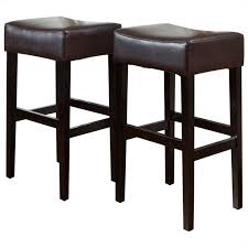 rodriguez backless bar stools in brown