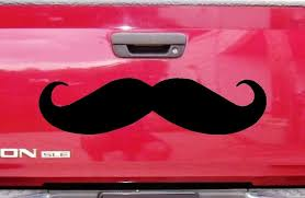 Amazon Com Mustache For Car Or Truck Auto Decal 8 X 32 Automotive