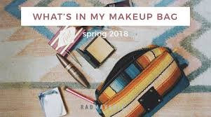 what s in my makeup bag spring 2018