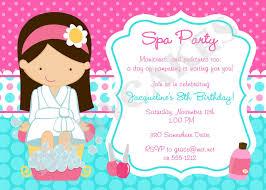 Spa Party Invitation Spa Birthday Party Spa Invitation Fiesta