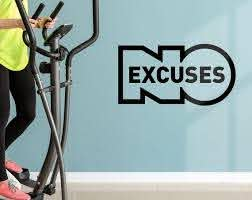 No Excuses Wall Decal Gym Decor Workout Room Wall Art Etsy