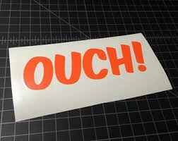 Ouch Sticker Etsy