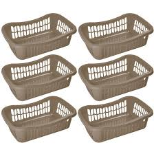 Ybm Home Large Plastic Storage Basket For Organizing Kitchen Pantry Countertop Bathroom Kids Room Office Drawer Junk Drawers And Shelves Pack Of 6 32 1191 6 Ybm Home