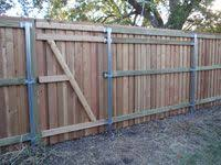 Metal And Wood Fencing Google Search Wood Fence Gate Post Fence Gate