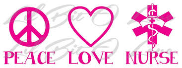 Peace Love Nurse Vinyl Decal Caduceus With Lilbitolove