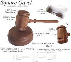 square gavels