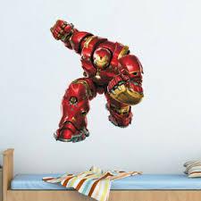 Iron Man Marvel Avenger Superhero Wall Sticker Kids Room Bedroom Cartoon Decals Ebay