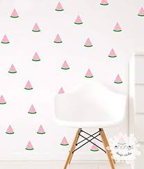 Amazon Com Watermelon Wall Decal 2 Color Watermelon Sticker Watermelon Wall Sticker Kids Room Decal Home Decor Handmade