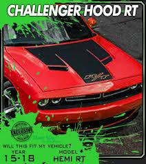 Series H2 2015 2019 Dodge Challenger Hood Trim Stripe Rt Decals Graphics Hood Stripe 3m Vinyl Decal Kit Truck Decals Custom Graphics For Muscle Cars Elite Limit