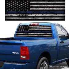 2020 Flag Blue Stripes Pickup Truck Rear Window Decal Suv Car Sticker From Letong168 20 1 Dhgate Com