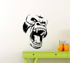 Amazon Com King Kong Wall Decal Gorilla Head Godzilla Vinyl Sticker Movie Monster Beast Mode Gym Fitness Decor Playroom Gift Home Nursery Teens Kids Baby Room Art Stencil Decor Mural Removable Poster 47me