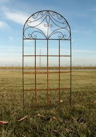 wrought iron spade trellis 76 tall