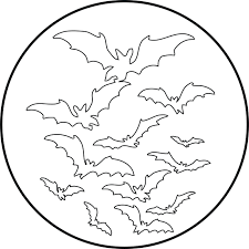 coloring pages color coloring of bats