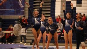 gymnastics preps for tri meet at west