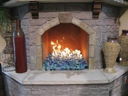fireplace fire pit glass