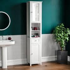 priano tall bathroom cabinet mirrored