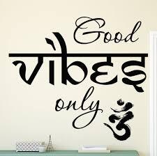 Bloomsbury Market Aldama Good Vibes Yoga Vinyl Wall Decal Reviews Wayfair