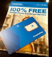freedompop s zero mo sim card works