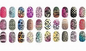 designs 30 5x25cm nail art stencils