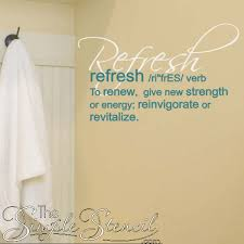 Bathroom Wall Decor And Powder Room Wall Decals And Vinyl Transfers An Easy Way To Update A Bath