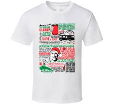 national lampoon s christmas vacation movie quote mashup t shirt
