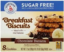 sugar free chocolate banana cookies