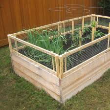 diy raised bed removable pest gate