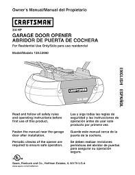 craftsman 139 53990 owner s manual